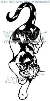 Calico Cat Tattoo Design