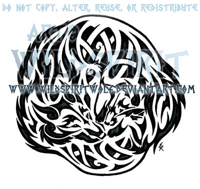 Wolf And Fox Celtic Tattoo by WildSpiritWolf