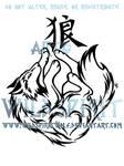 Kanji Wolf Tribal Design