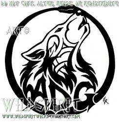 Tattoo Howling Wolf ADG Logo by WildSpiritWolf