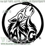 Tattoo Howling Wolf ADG Logo