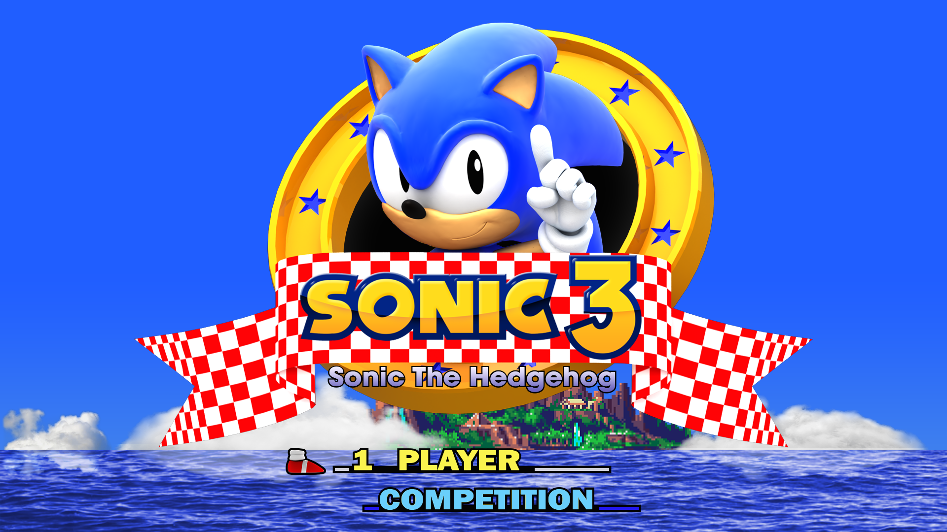 sonic 3 title screen the image kid has it. Black Bedroom Furniture Sets. Home Design Ideas