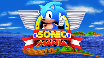 Sonic Mania Title Screen 3D Remake by TBSF-YT
