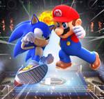 Mario VS Sonic! Console Wars!