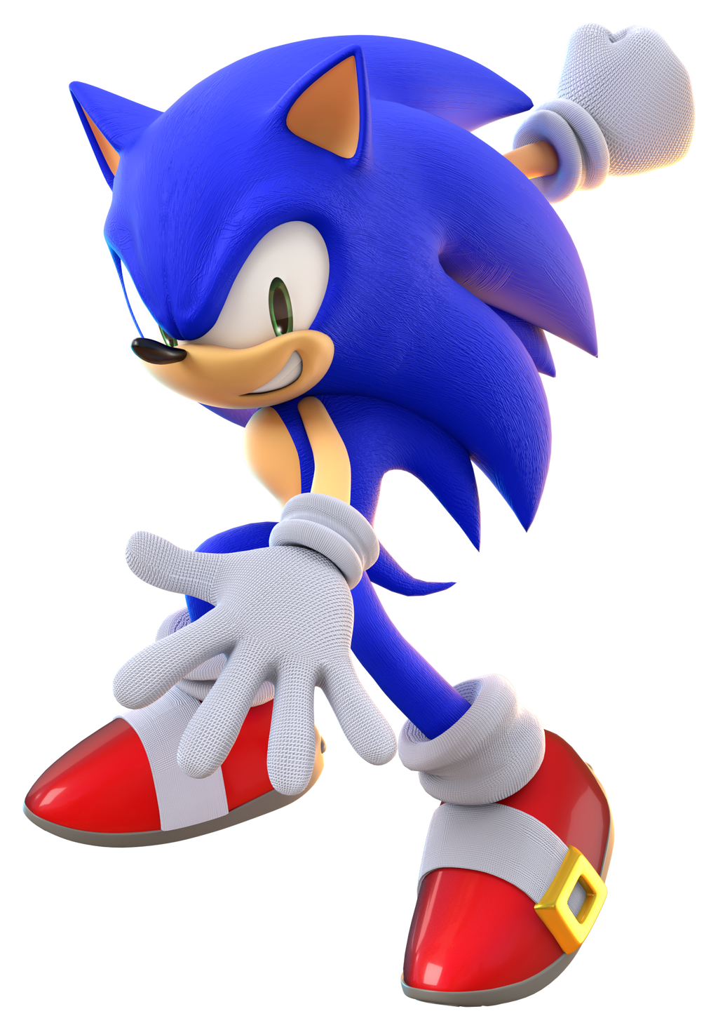 how to draw a 3d sonic