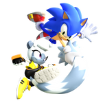 Sonic And Tangle Render (IDW Issue Cover 4)