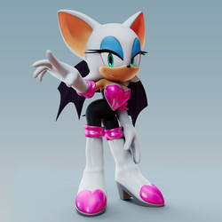 Rouge The Bat Render by TBSF-YT
