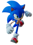 Sonic throwing a punch