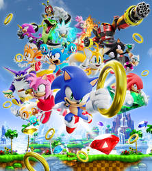 Sonic 29th Anniversary Collab Poster