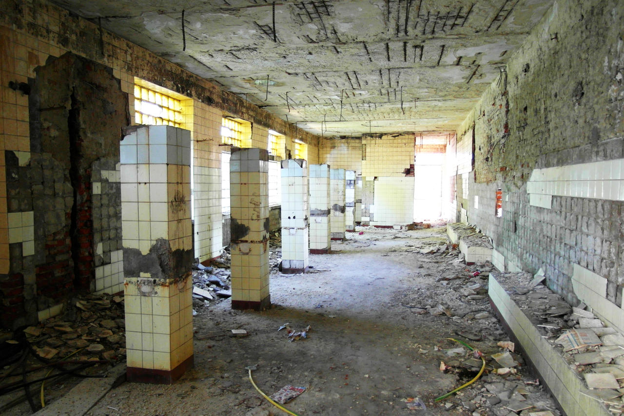 Abandoned bathroom in abandoned mine by Czava on deviantART