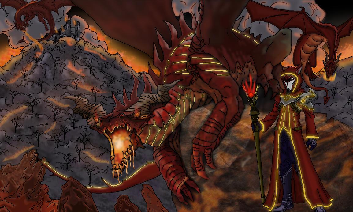 Warlocks Dragons: Magor Warlock, Magma Dragon By SaveTheGridTron On DeviantArt