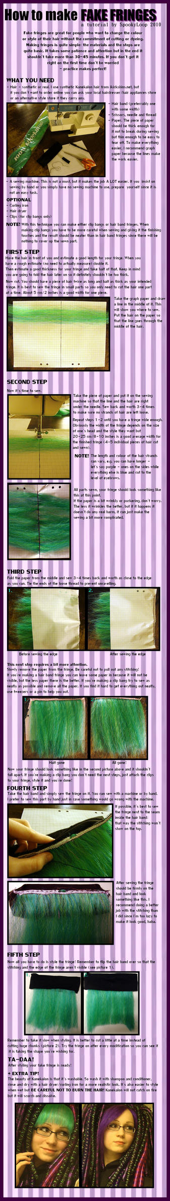 How to Make Fake Fringes by SpookyLoop