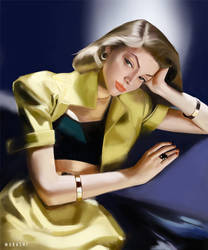Lauren Bacall by Murashi-Art