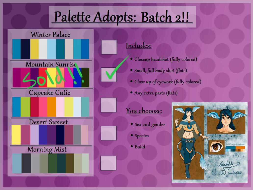 Palette Adopts: Batch 2 [SET PRICE] by landiddy