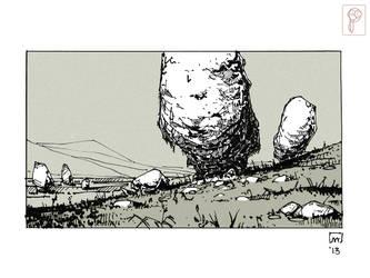White Stones by Papierpilot