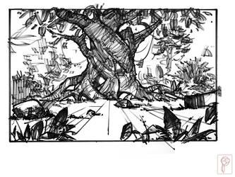 Tree Concept Sketch by Papierpilot