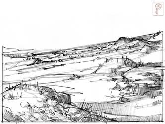 Landscape Speedsketch by Papierpilot