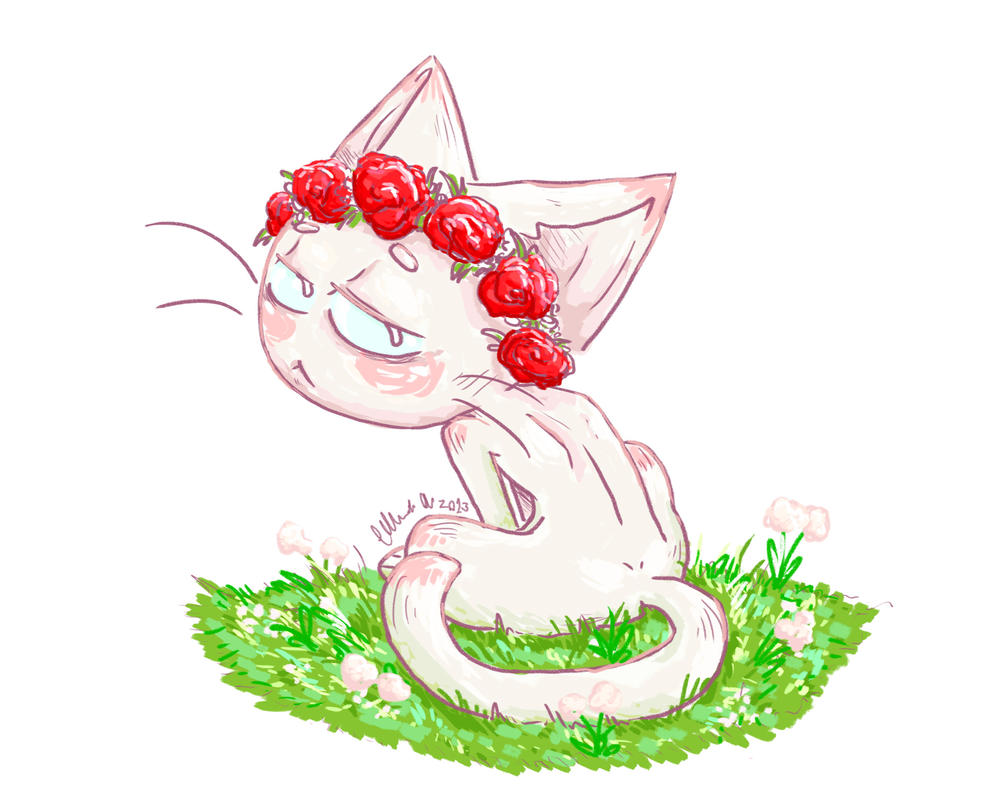 Flower Crown Cat By Futurecrazycatlady On Deviantart