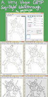 A GIMP Sugimori Walkthrough