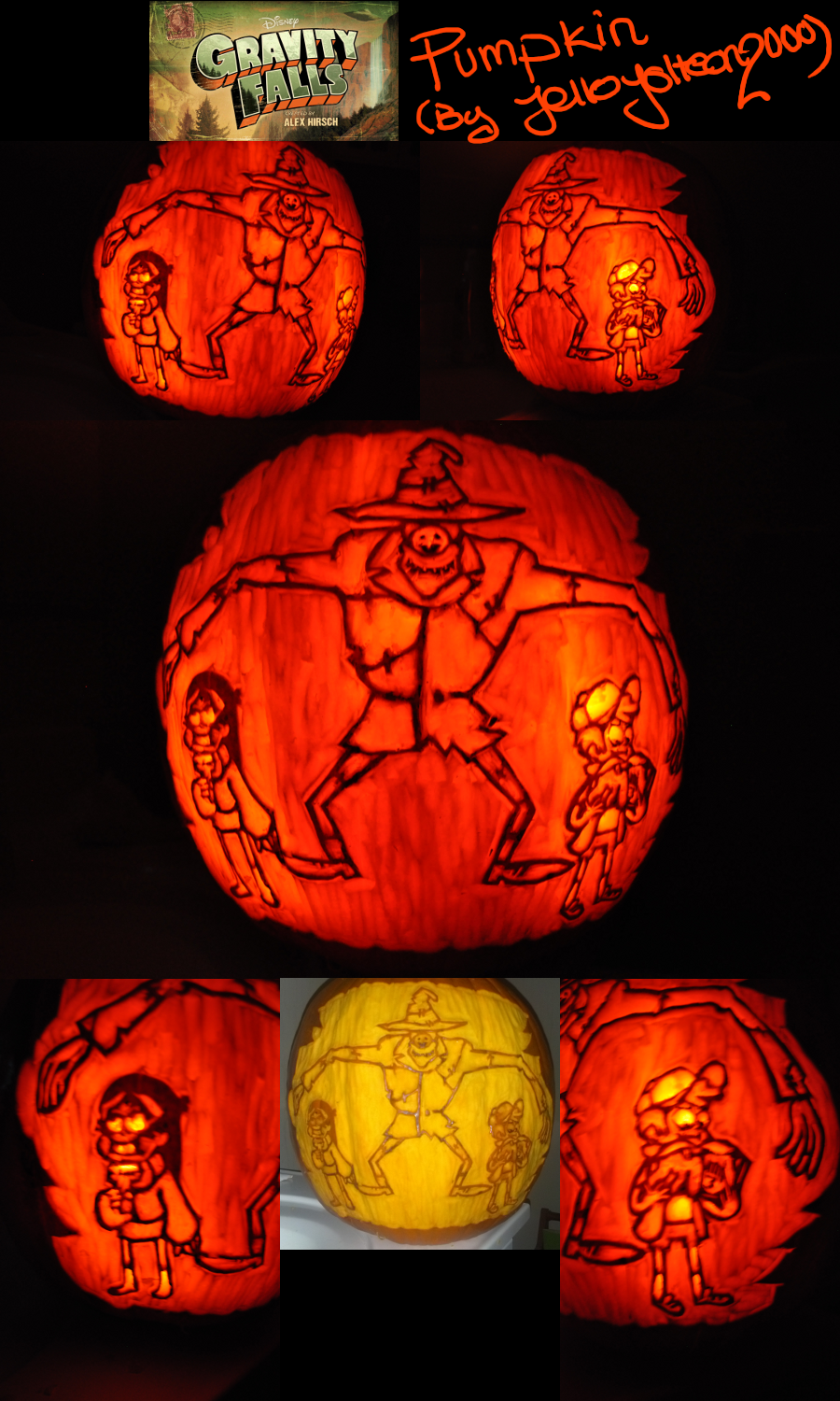 Gravity Falls Pumpkin by JelloJolteon2000