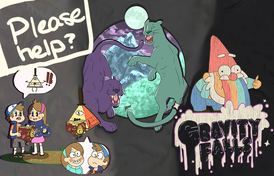 Gravity Falls T-Shirt Designs by JelloJolteon2000