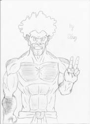 A few years before Cell Game Mr. Satan/Hercule by Ukog