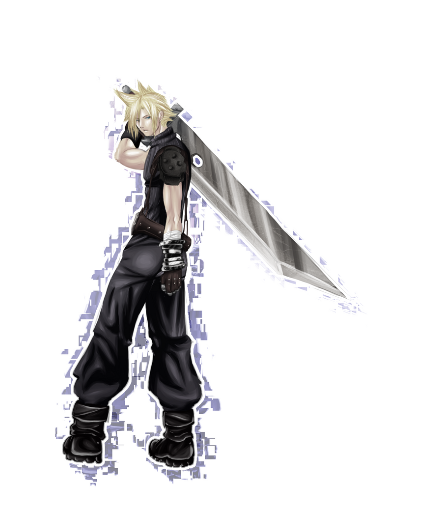 Cloud Strife ::painting practice:: by hyamara