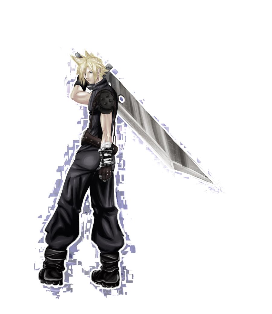 Final Fantasy Cloud Strife Wallpaper: Cloud Strife ::painting Practice:: By Hyamara On DeviantArt