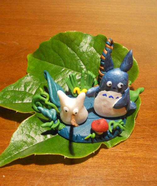 Totoro in a Green Nest - Second Shot by JulietTaylor