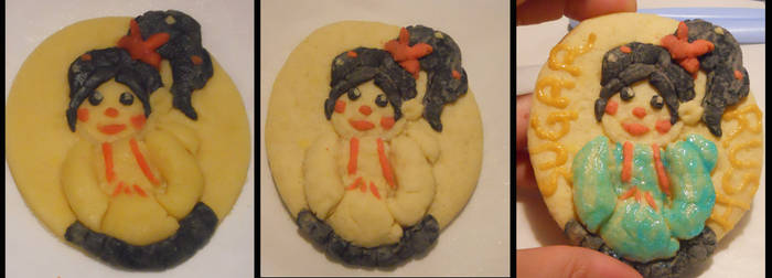 3 Step Vanellope Cookie