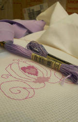 Stitching a Princess' Carriage by JulietTaylor