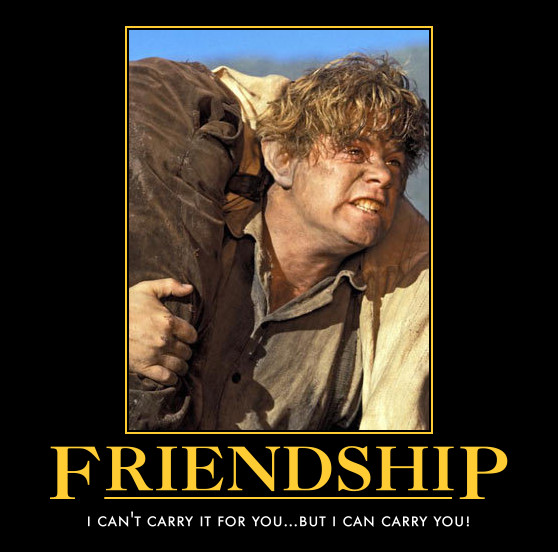 Friendship Quotes From Lord Of The Rings : Frodo And Sam Friendship By  Awesomenessdk On Deviantart Nice Look