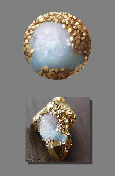 Texture Study 02 - Milky Quartz with Pyrite by MonicaMarinho