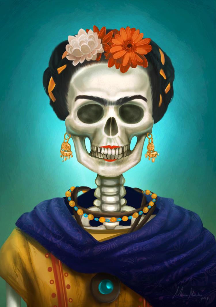 Frida, La Catrina by MonicaMarinho