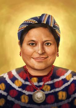 Hispanic Women Portraits: Rigoberta Menchu