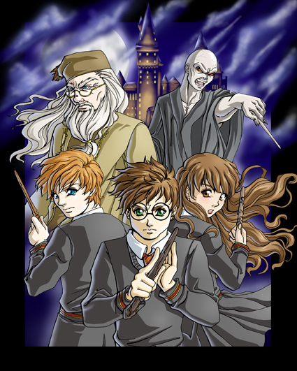 Harry Potter en Anime. Harry_Potter_Anime_Style_by_FallenMessiahX