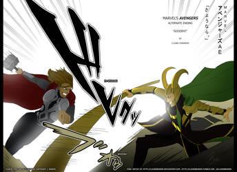 Avengers 2012 Alternate Ending 'Goodbye' p1-2 by clairebearer