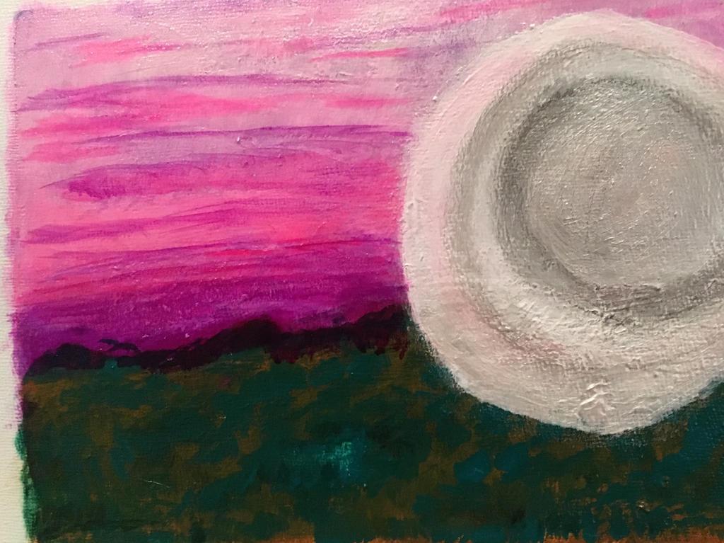 Crack at a moon by jodiblue