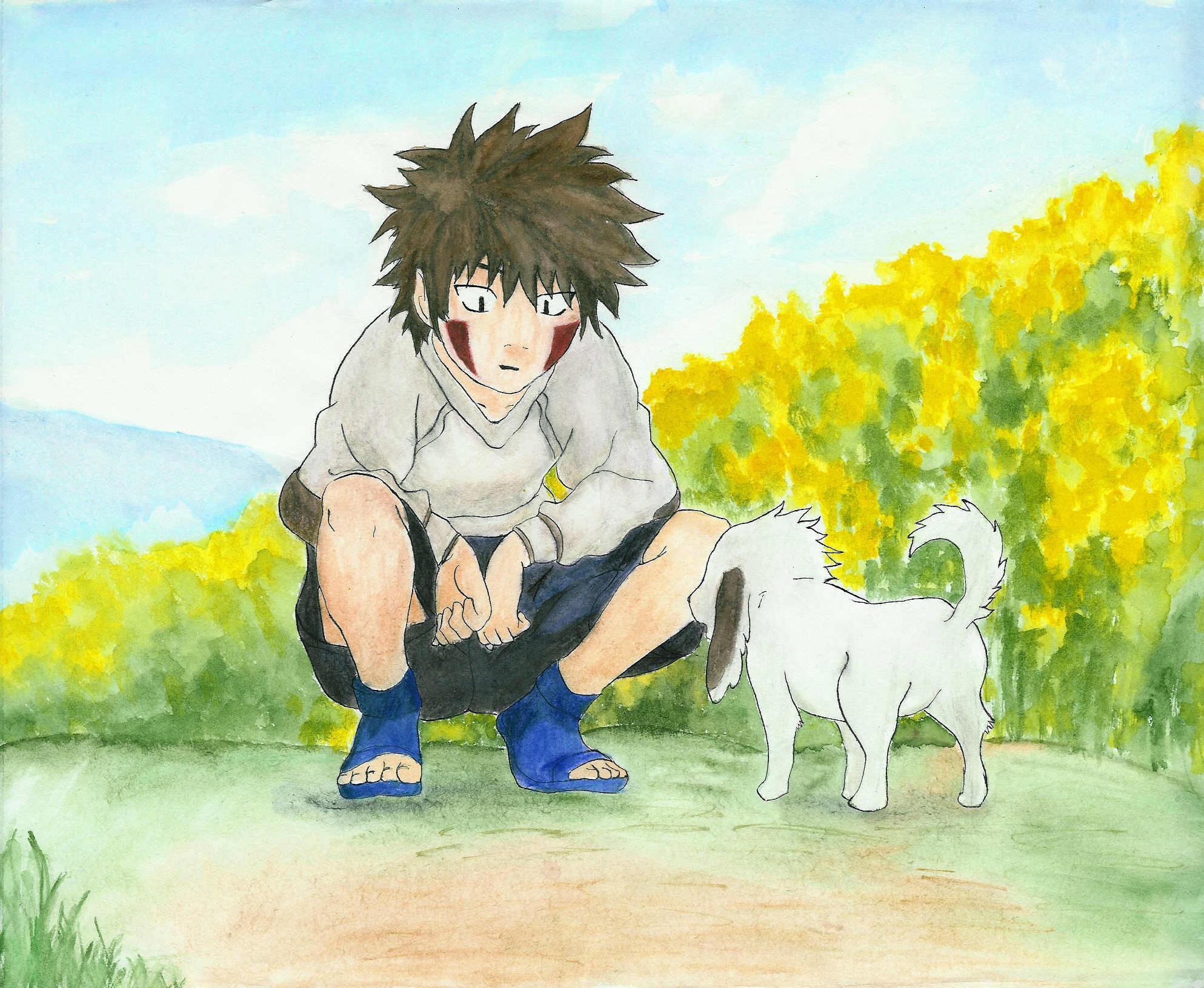 Kiba's new friend by Kaori-Kitty