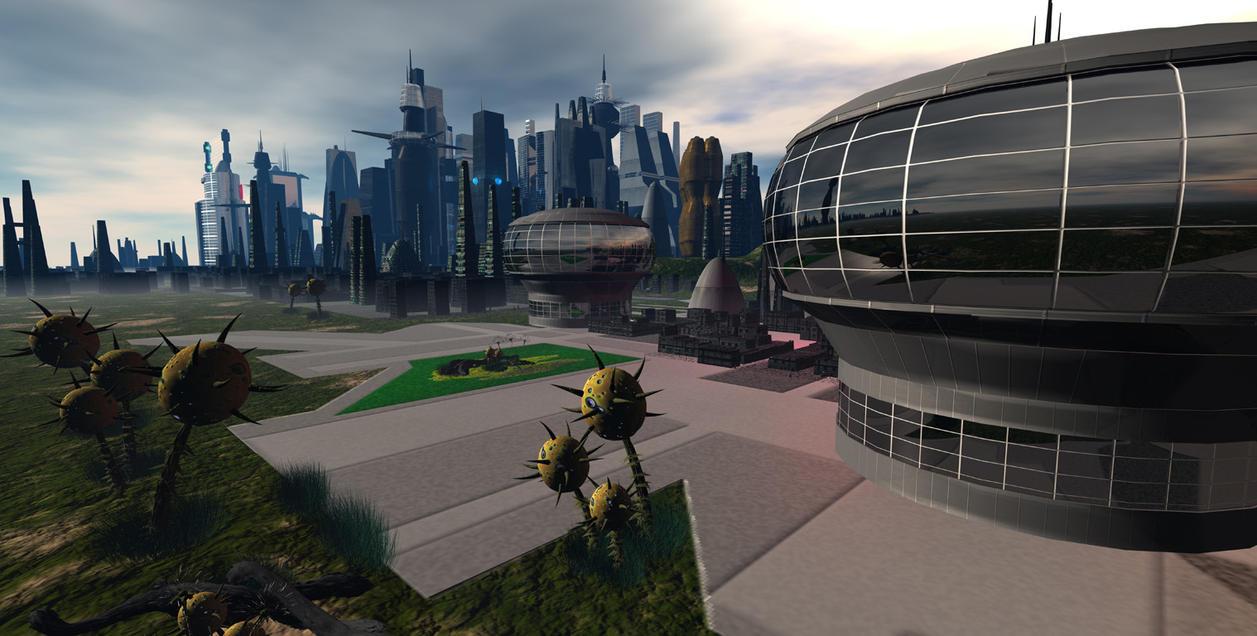Alien City V4 WIP by sicklilmonky