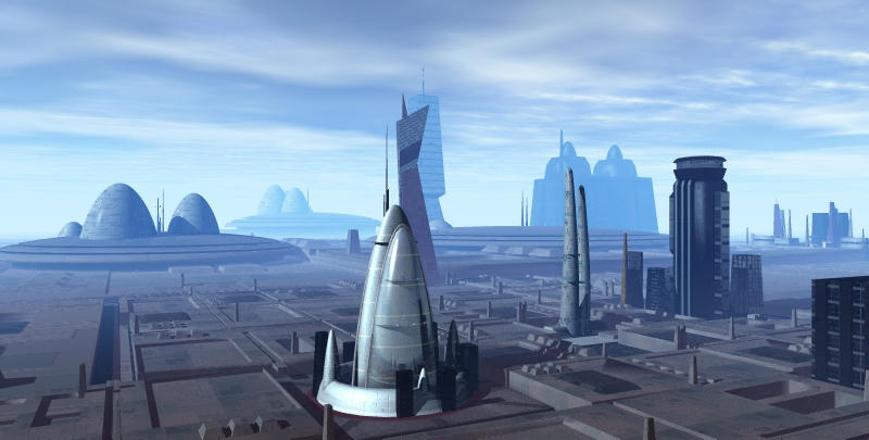 Alien City 001 V7 WIP by sicklilmonky