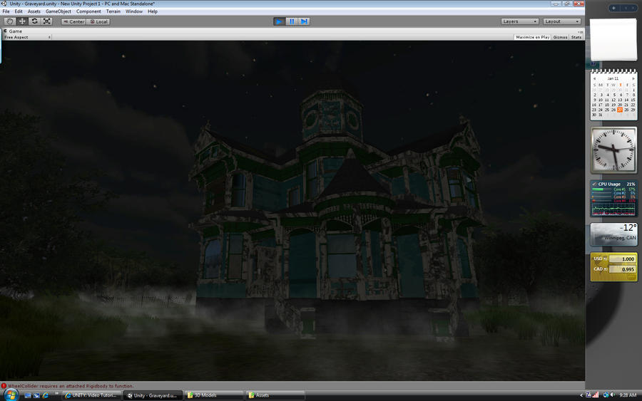 Unity 3d haunted house by sicklilmonky on deviantart for Unity 3d room design