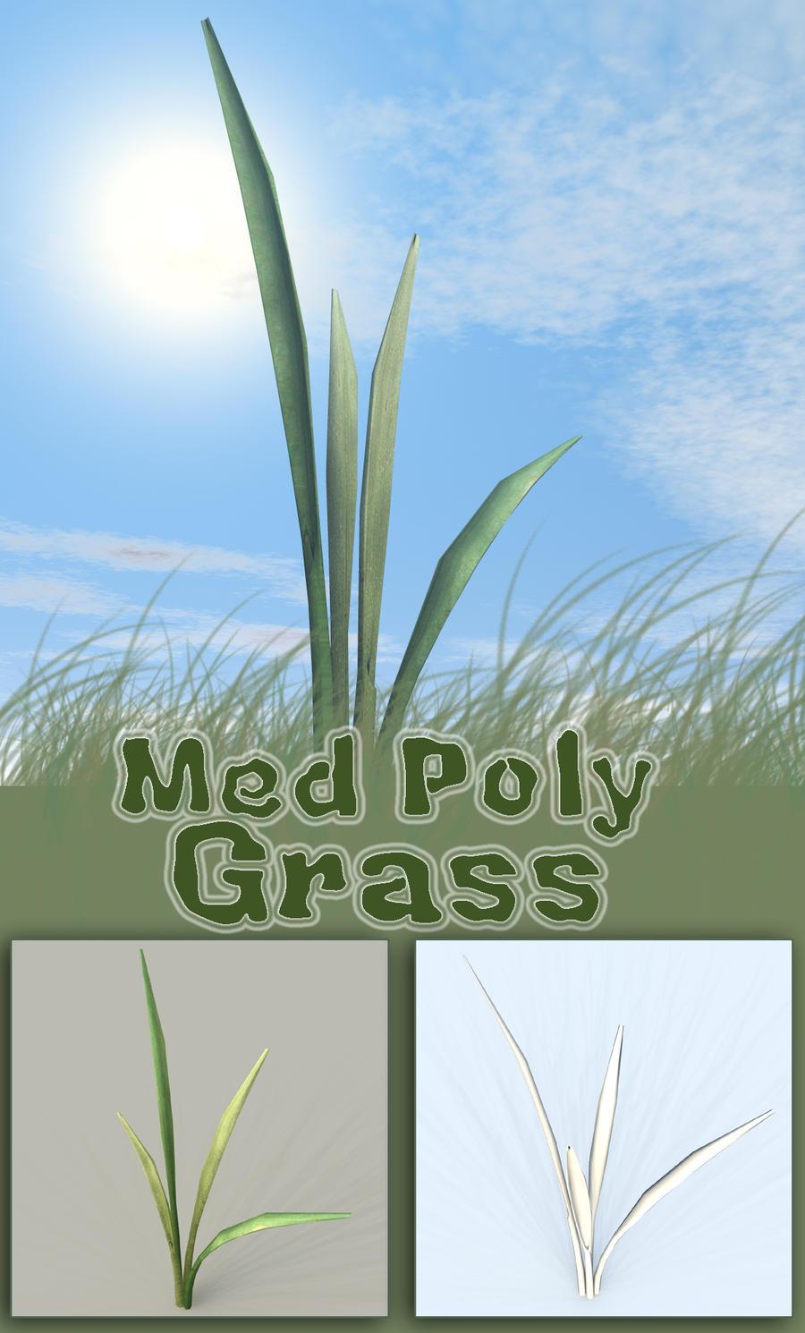 Medium Poly Grass 3D Model by sicklilmonky