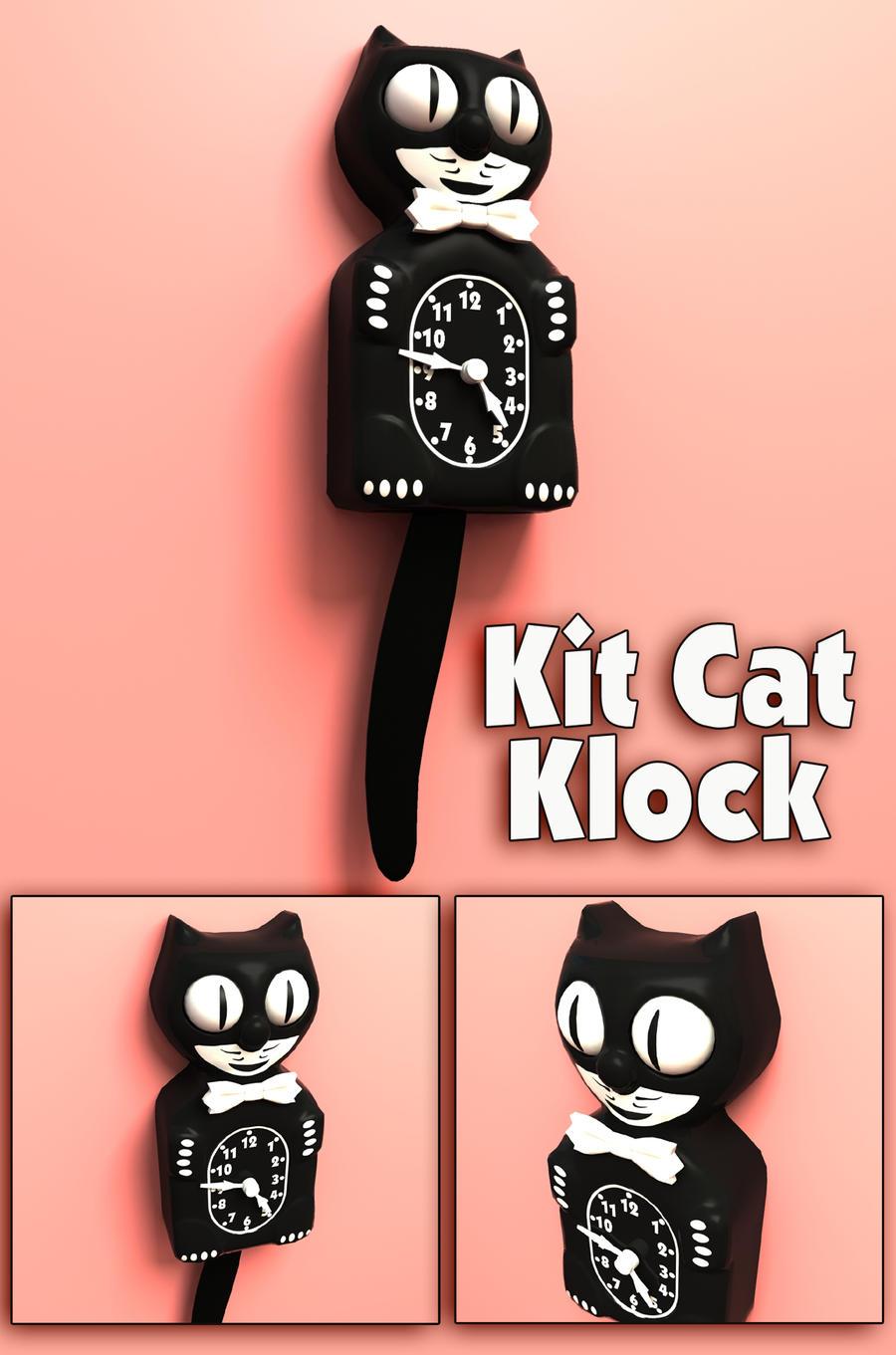 kit cat clock 3d model by sicklilmonky on deviantart. Black Bedroom Furniture Sets. Home Design Ideas