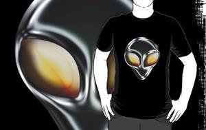 Metal Alien Head T by sicklilmonky