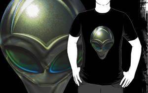 Metal Alien Head 02 T by sicklilmonky