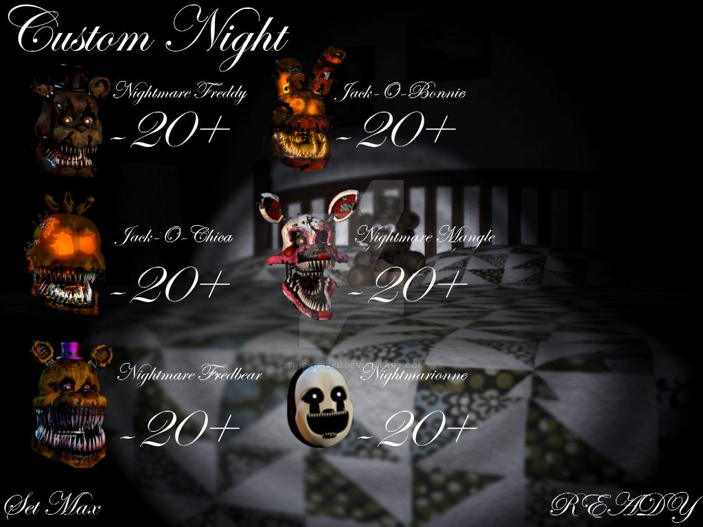 FNaF4 Custom Night Fan-Made by Trick-Pixel on ...