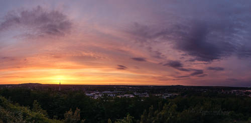 Sunset panorama by FurImmerUndEwig