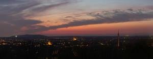 Evening light over Bottrop
