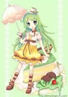 Green Tea Cake by alinnayun